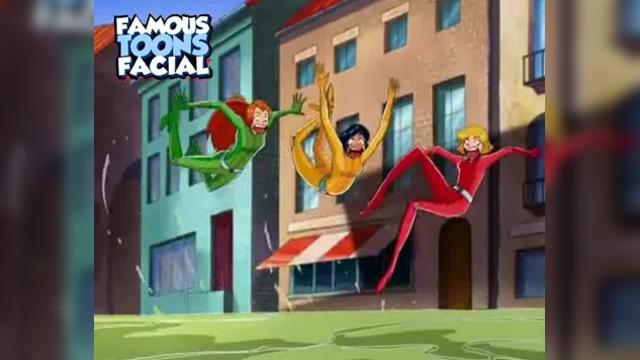 Totally Spies Clover Sex - Famous Toons Facial