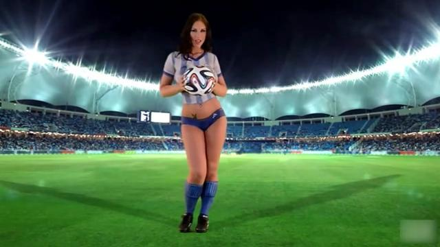 Football Body Paint Girl Sexy girl 3